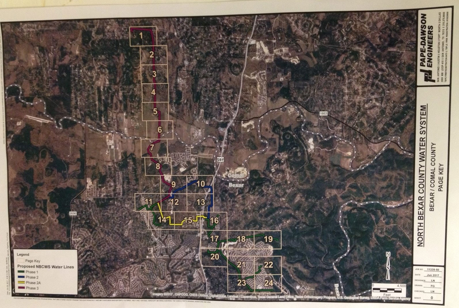 SCWSC Pipeline Map Stopped at Top of 4 at Ammann Road City of Bulverde Did NOT Approve Special Permit for (2) 4 Million Gallon H2O Storage Tanks & Pump Station Proposed at 1