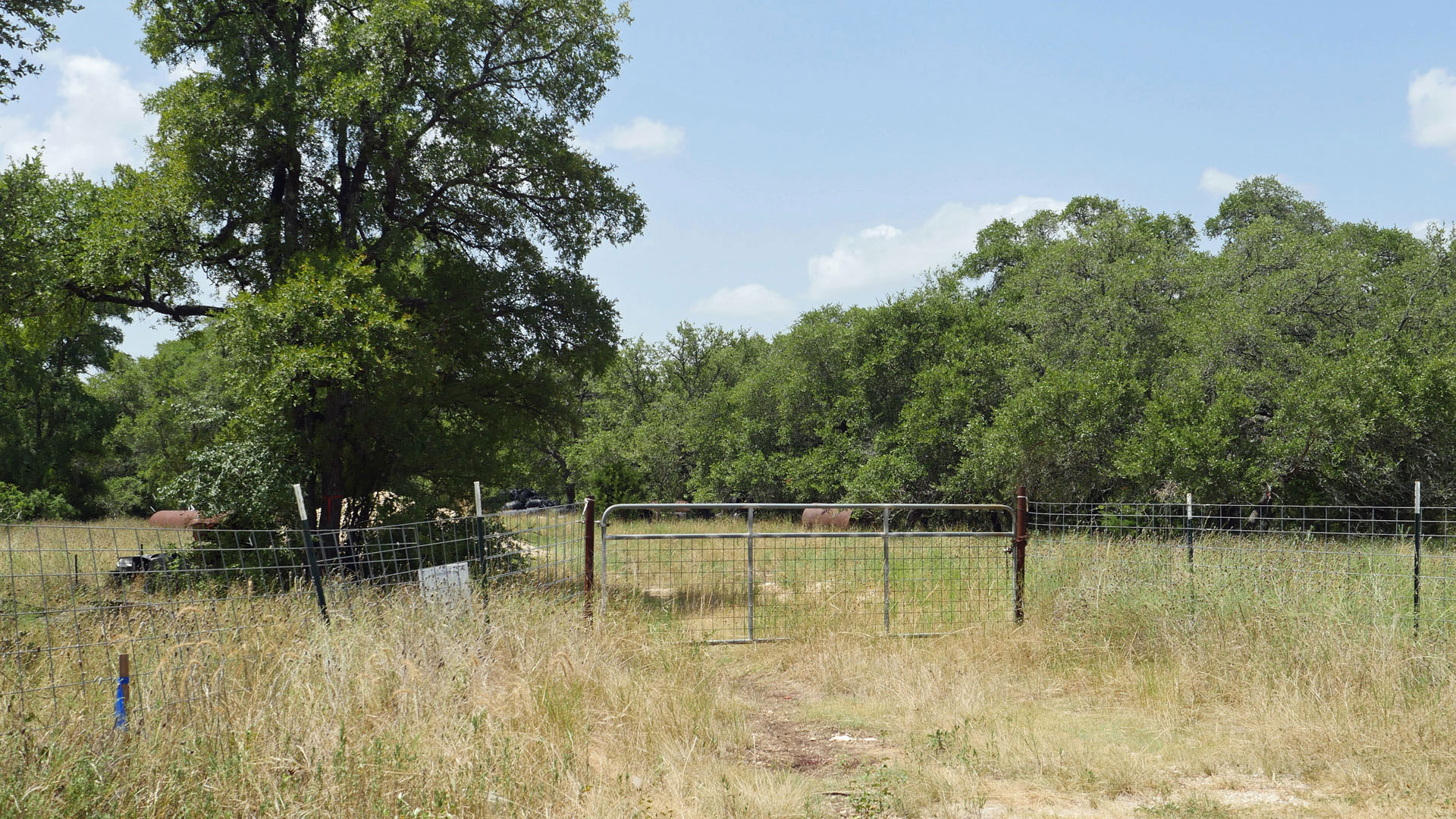 South Comal Water Supply Company stopped Pipeline on South Side of Ammann Road